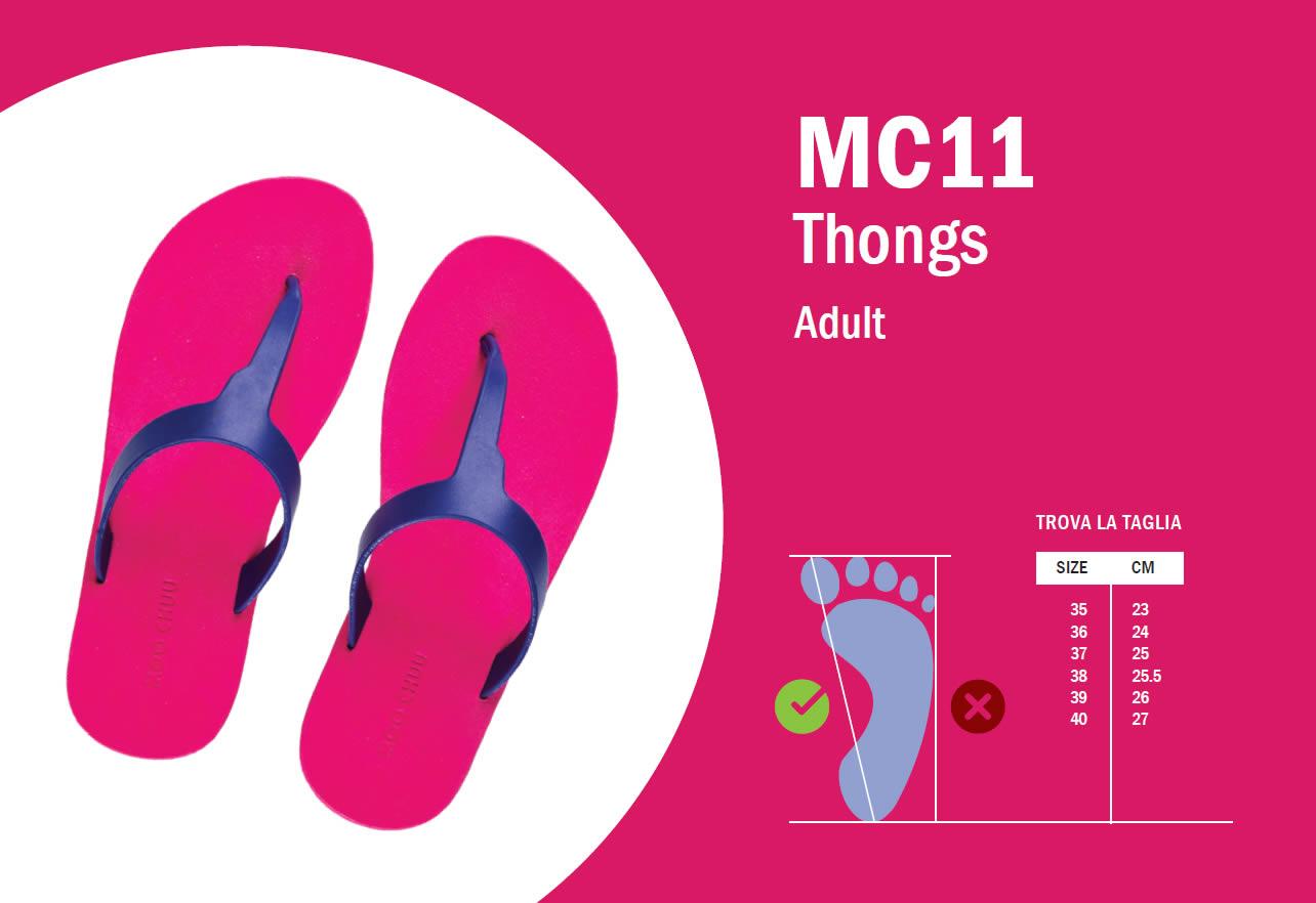 MC11 Guida alle taglie